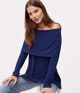LOFT Foldover Off the Shoulder Tunic Top