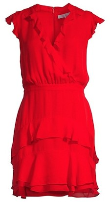 Parker Tangia Silk Ruffle Dress