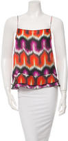 Chris Benz Silk Abstract Print Top w/ Tags