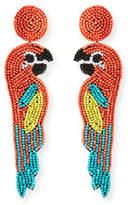 Kenneth Jay Lane Parrot Seed Bead Earrings