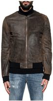 Dolce & Gabbana Brown Leather Bomber
