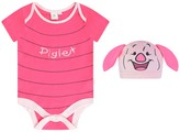 Disney Baby Girls Piglet Bodysuit With Hat