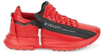 Givenchy Spectre Side-Zip Leather Sneakers