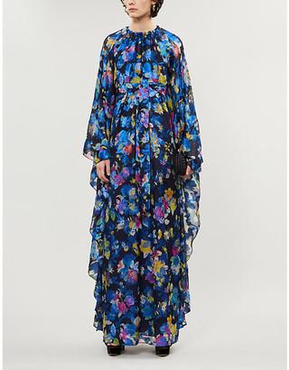Etro Floral-print silk-blend maxi dress