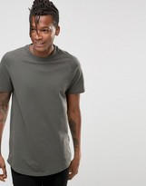 Selected Curved Longline Pique T-Shirt