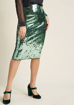 Louche Sequin Pencil Skirt in 10 (UK) - by from ModCloth