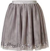 John Lewis Girls' Sequin Chevron Skirt, Grey