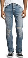 Hudson Sartor Slouchy Distressed Skinny Jeans, Intent Blue