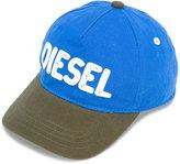 Diesel colour-block logo cap - kids - Cotton - 46 cm