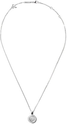 Chopard 18kt white gold Happy Diamond Icons pendant necklace