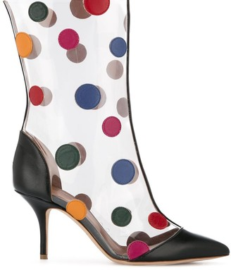 Malone Souliers polka dot stiletto boots