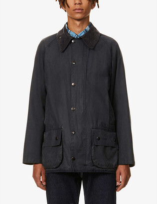 Barbour Re-loved corduroy-collar waxed cotton jacket