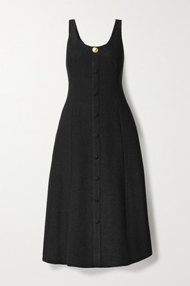 Adam Lippes Boucle Midi Dress - Black