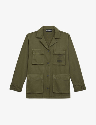 The Kooples Embroidered cotton cargo jacket