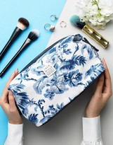 Jack Wills White Floral Cotton Toiletry Bag
