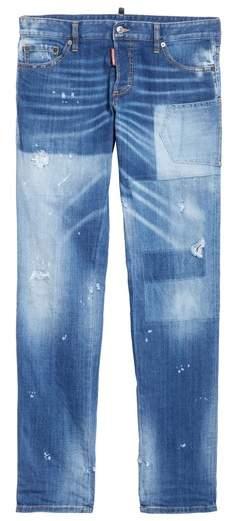 DSQUARED2 Slim Fit Patchwork Jeans