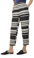 Topshop Women's Horizontal Stripe Peg Trousers