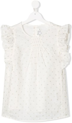 Bonpoint TEEN polka dot blouse