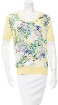 Erdem Floral Print Silk Top