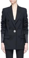 Alexander Wang Layered lambskin leather sleeve suiting jacket