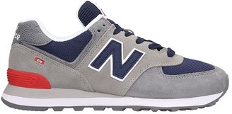 New Balance 574 Sneakers In Grey Suede