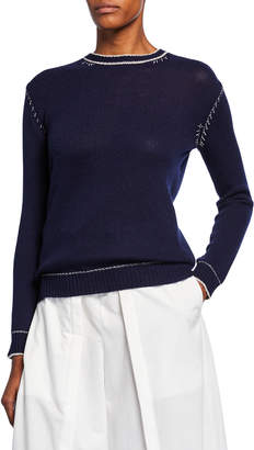 Marni Button-Down Back Cashmere Knit Sweater