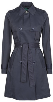 Benetton 2BIM5K2S3 women's Trench Coat in Blue