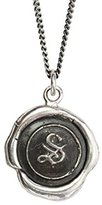 Pyrrha Unisex 925 Sterling Silver Initial S Talisman Necklace