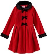 Girls 7-10 Sophie Rose Bow Faux-Fur Fleece Midweight Coat