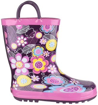 Cotswold Girls Flower Wellington Boots