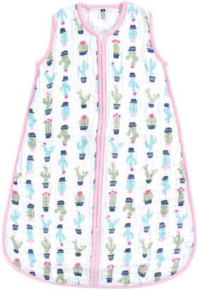 Hudson Baby Girls' Infant Sleeping Sacks Girl - Pink Cactus Wearable Blanket - Newborn & Infant