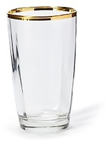 Vietri Optical Gold Highball Glass