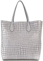 Rochas crocodile effect shopper - women - Goat Skin - One Size