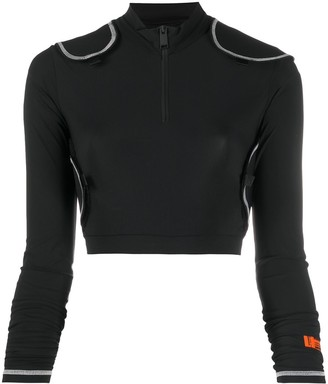 Heron Preston Removable Patch Cropped Top