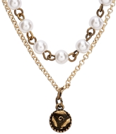 Aeropostale Pearl Rose Long-Strand Necklace