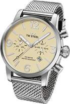 TW Steel Men's MB3 Maverick Analog Display Quartz Silver Watch
