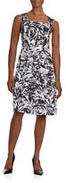 Ellen Tracy Floral Fit-and-Flare Dress