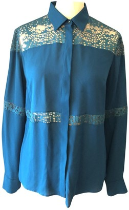 Elie Saab Turquoise Silk Top for Women