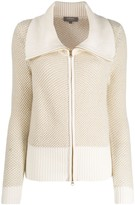 N.Peal zipped knitted cardigan