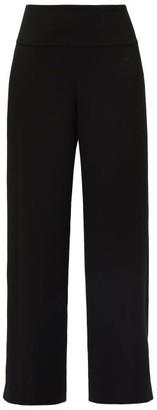 The Row Lucinda High-rise Crepe Wide-leg Trousers - Black