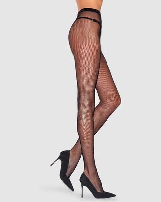 Ann Summers Diamante Noir Tights