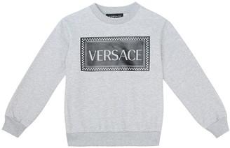 Versace Kids 90s Vintage-logo cotton sweater