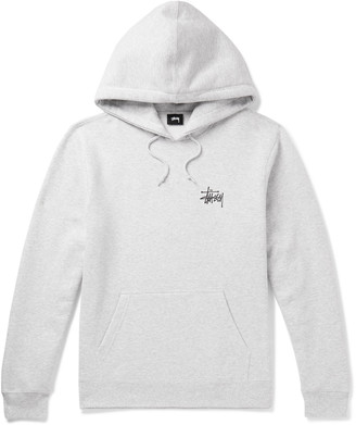Stussy Logo-Print Fleece-Back Cotton-Blend Jersey Hoodie