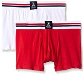 Psycho Bunny Men's 2-Pack Motion Cotton Boxer Trunks