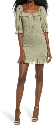 Rowa Smocked Sheath Minidress