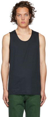 Lemaire Navy Sunspel Edition Jersey Tank Top