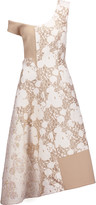 Stella McCartney Jackie metallic brocade and wool blend-felt midi dress