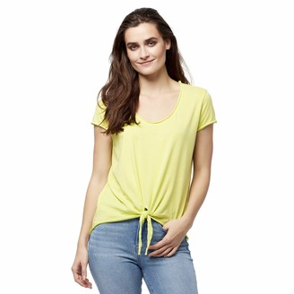 William Rast Women's Astrid Tie Front Vneck Tee Shirt