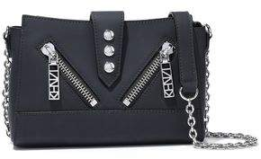 Kenzo Kalifornia Mini Zip-detailed Matte-leather Shoulder Bag