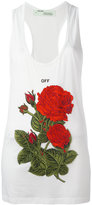 Off-White rose embroidery tank - women - Cotton - S